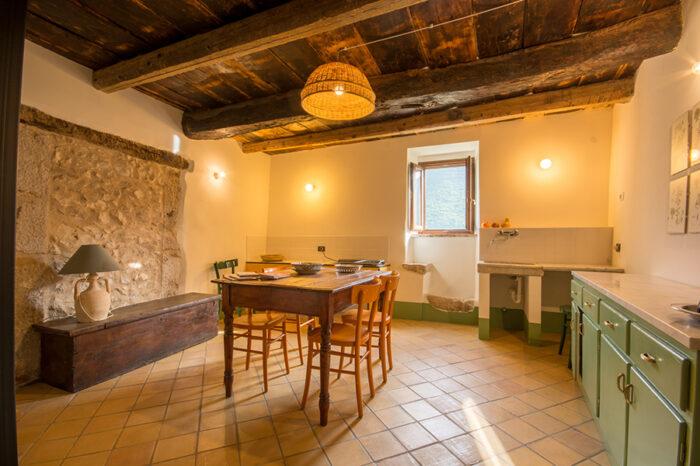 Casa degli Archi - Cucina e Soggiorno