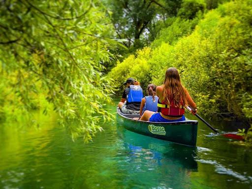 Fiume Tirino, canoa